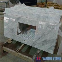 Bianco Carrara White Marble Vanity Top
