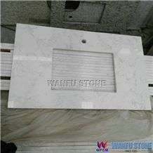 Good Quality Hot Sale Carrara White Marble Vanity Top