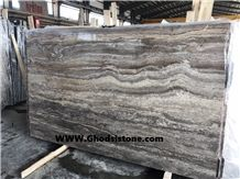 Silver Travertine Slabs & Tiles, Snake Skin Travertine Slabs & Tiles