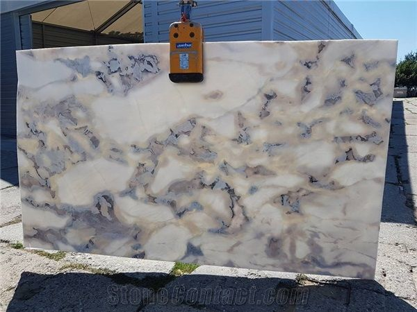 transparent marble caribbean island slabs from poland