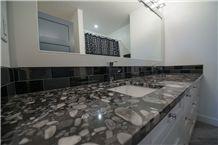 Black Marinace Granite Master Bathroom Top