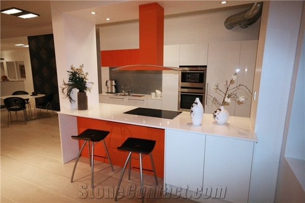 Okite Bianco Assoluto Solid Surface Kitchen Tops from Sweden ...