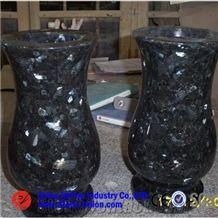 Blue Pearl Granite Monumental Vases