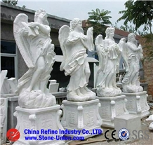 China Manufacturer Marble Angel Sculpture Statue
