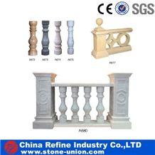Chinese Cheap Granite Stone Balustrade & Railings,Modern Design Granite Stone Railing for Interior & Exterior Decoration