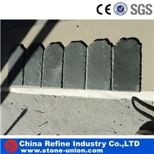 Chinese Green Natural Edges Slate Roofing Cladding Panel Covering Stone and Decorated Paving Tiles