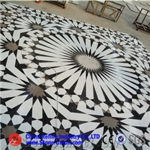 Floor Inlay Waterjet Marble Medallion Pattern