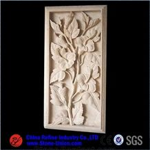 Flower Carving Ornamental Beige Marble Relief,Wall Reliefs,Relievos,Reliefsrelief Design,Relief Carving,Engraving Ideas
