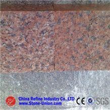G386 Granite, Peninsula Red, Shidao Red, Island Red, Zhuangcheng Red,Red Granite Cube Stone & Pavers
