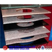 Golden Granite Vanity Top,Bathroom Countertops,Custom Vanity Tops,Bathroom Vanity Tops,Bathroom Solid Surface