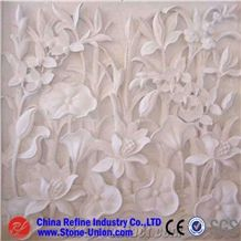Marble Wall Relief Carving Lotus Ornament,Relieve,Wall Reliefs,Relievos,Relief Design,Relief Carving,Engraving Ideas