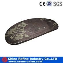 Slate Classical Tea Plates,Chinese Eastern Trays and Plates,Dishes,Pestles,Slate Boards for Tea