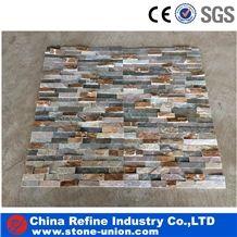 Slate Cultured Stone,Wall Cladding, Stacked Stone Veneer, Corner Stone Clearance,Thin Stone Veneer,Outdoor Quartzite Wall Panel,Manufactured Stone