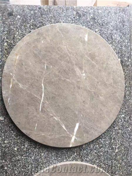 Grey Marble Round Table Top Polished Gray Marble Small Receiption Solid Surface Work Tops From China Stonecontact Com