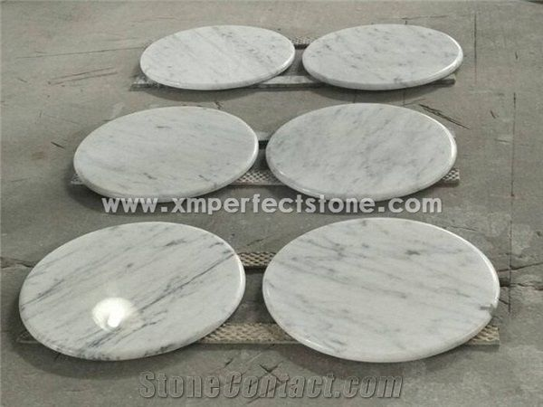 Bianco Carrara Marble For Coffee Table Top With Round Rectangle Oval Square Shape From China Stonecontact Com