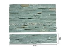 Green Slate Cultured Tiles for Wall Cladding/Chine Jade Slate Natural Split 600*150*10-25mm