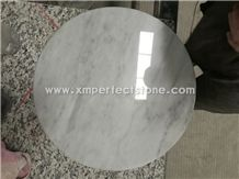 Round/Rectangle/Oval/Square White Marble Table Top/Carrara White Coffee Table Top