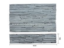 Xingzi Black Cultured Slate Strips with Natural Split Culture Stone Foe Wall Cladding
