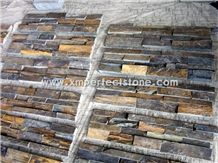 Yellow Beige Cultured Stone, Wall Cladding, Cheap Chinese Wall Stone Panel