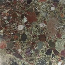 Green Breccia Stone Slabs Egypt