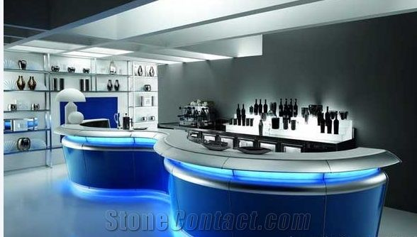 Acrylic Solid Surface Commercial Bar