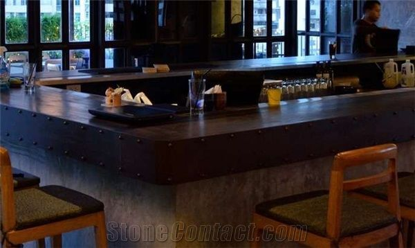 Classic Design Commercial Bar Counter Artificial Stone Bar Top from ...