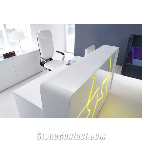 Corian Modern and Simple Office Desk Workstation Table ...