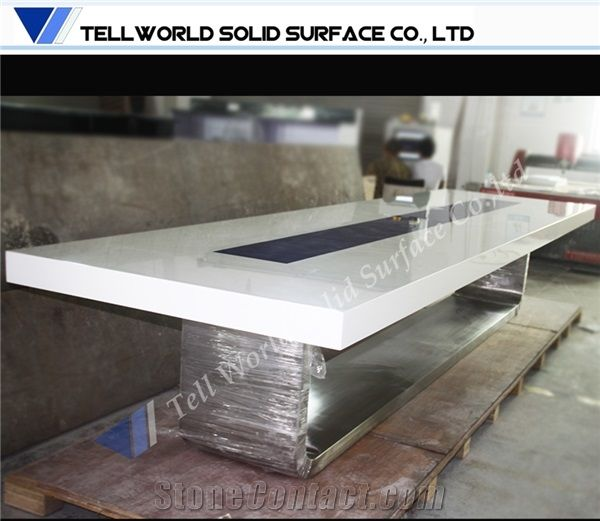 High End England League Acrylic Solid Surface Conference Table From - England conference table