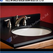Solid Surface Vanity Top Sink Commercial Artificial Stone Bathroom Sink