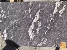 China Own Factory Snow Grey Veins Granite Tile Slab Flamed Finshed Via Lactea Stone