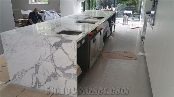 Calacatta Marble Kitchen Bench Top From