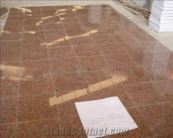 China Polished Maple Red Granite Tile
