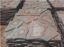Karystos Brown Slate Irregular Flagstones Tile