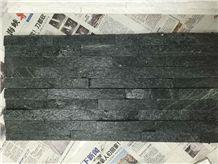 Rectangle,Z Shape, S Shape 60x15 ,40x10 Black Quartzite Cultured Ledge Stone ,Black Quartzite Split Face Culture Stone Thin Stone Veneer Ideal Corner Stone