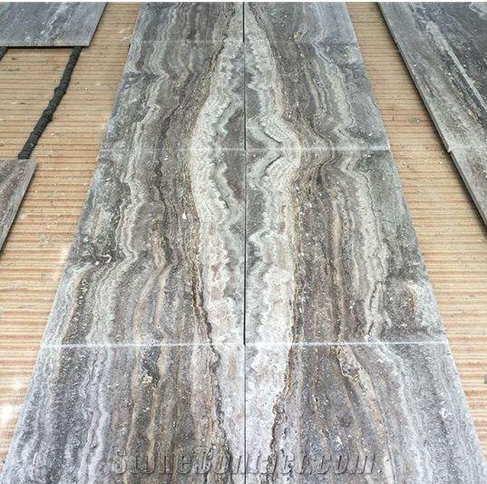 12 X24 Honed Gray Travertine Outdoor Floor Tile Black Paver