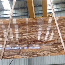 China Wholesaler Golden Walnut Travertine Brown Azarshahr Walnut Travertine Persian Walnut Travertine