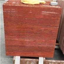 Hot Sale 60x60cm Polished Iran Red Travertine Floor Tile