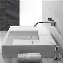 Kkr Acrylic Solid Surface Bathroom Sink European Wall Hung Price For Project