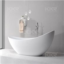 Luxury Solid Surface Custom Bathtubs Sizes,Durable White Matte Freestanding Stone Solid Bathtub