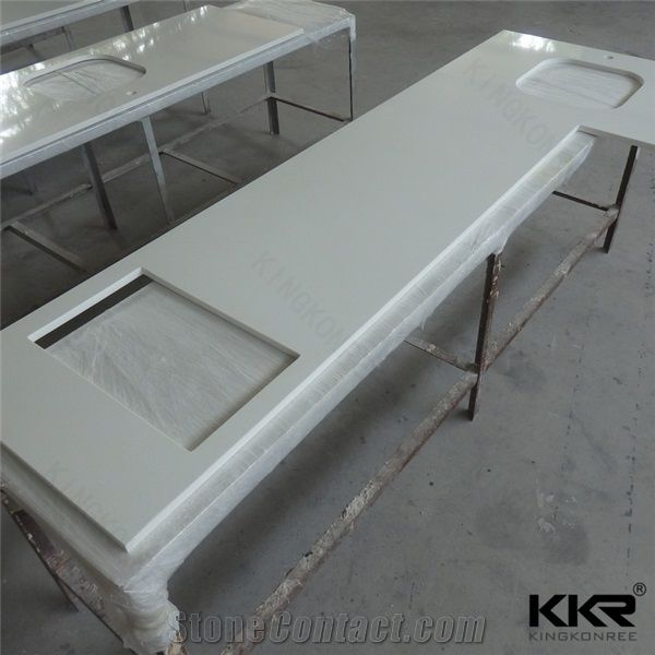 Stunning Special Shape Kitchen Working Table Top Solid