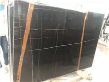 African St. Laurent Black Marble Stone Tile Slabs