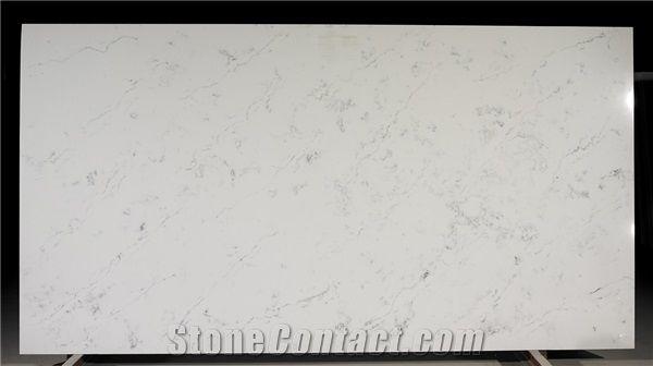 Carrara Marble Look Quartz Stone Slab