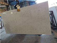 Carrara White Marble Look Quartz Stone Slab
