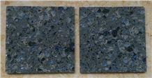 Granite Look Blue Pearl Quartz Stone Slab & Tiles