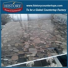 2017 New Popular High Polished Pebble Green Granite Slab & Tile, Natural Stone for Countertop and Vanity Tops and Interior / Exterrior Wall & Floor