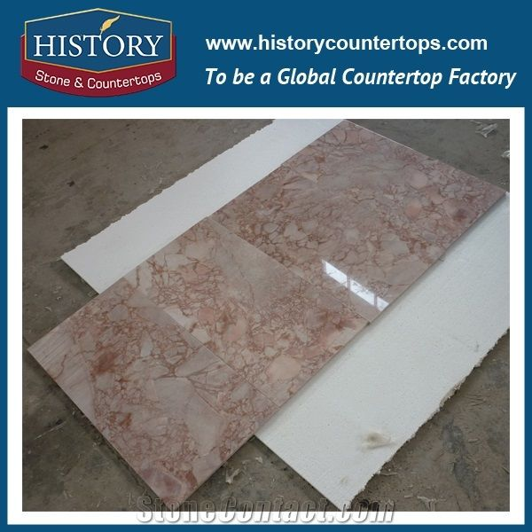 China Building Materials Colour Red Rose Milk Marble Tile House