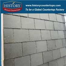 China Light Grey Tradition Square Pattern Slate Roofing Tiles, Slate Roof Covering