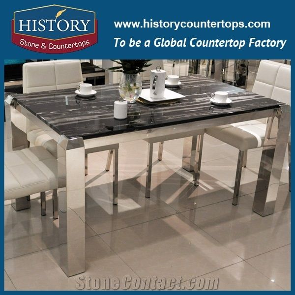 China Manufacturer Natural Stone Silver Dragon Marble Tables Marble Counter  Top Center Table Kitchen Cabinet