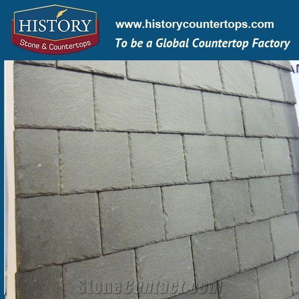 Dark Grey Slate Roofing Tile Rectangle