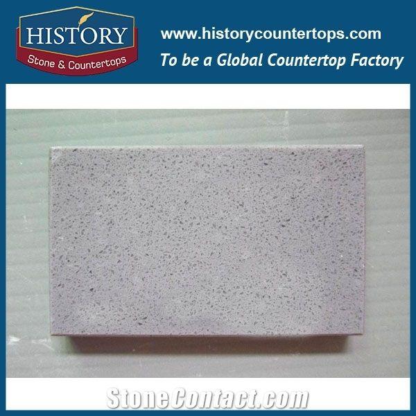 History Manufacturer Engineered Grey Quartz Stone Composite Slabs Tiles Flooring Walling
